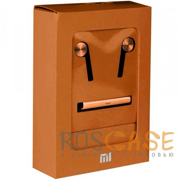 Фото Оранжевый Xiaomi PISTON 5 (реплика) | Вакуумные наушники с пультом управления и микрофоном