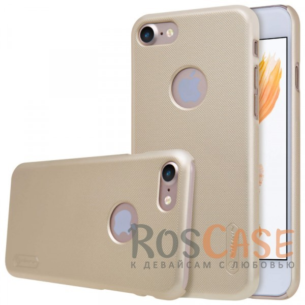 "Фотография Золотой Nillkin Super Frosted Shield | Матовый чехол для Apple iPhone 7 (4.7"") (+ пленка)"