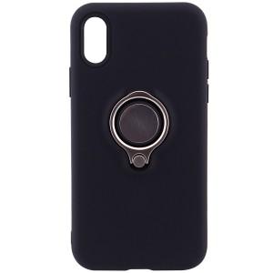 """Deen   Матовый чехол для Apple iPhone X (5.8"""") с креплением под магнитный держатель и кольцом-подставкой"""