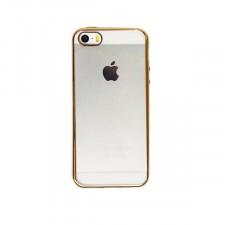 Силиконовый чехол для Apple iPhone 5/5S/SE с глянцевой окантовкой