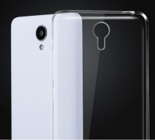 Msvii | Прозрачный силиконовый чехол для Xiaomi Redmi Note 2 / Redmi Note 2 Prime с заглушкой