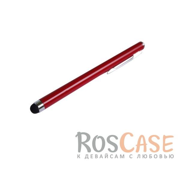 Емкостной стилус в виде ручки (Красный)Описание:производитель  - &amp;nbsp;Epik;совместимость  -  универсальная;материал наконечника  -  силикон;тип  -  стилус для сенсорного дисплея.&amp;nbsp;Особенности:позволяет делать детализированные рисунки;возможность управлять девайсом, не касаясь экрана;плавно скользит по экрану;точность нажатия;длина стилуса - 105 мм.<br><br>Тип: Стилус<br>Бренд: Epik