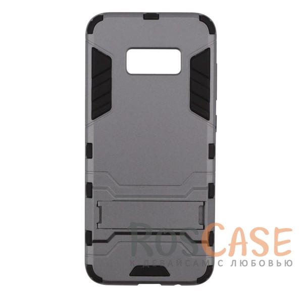 Ударопрочный чехол-подставка Transformer для Samsung G950 Galaxy S8 с мощной защитой корпуса (Металл / Gun Metal)Описание:чехол разработан для Samsung G950 Galaxy S8;материалы - термополиуретан, поликарбонат;тип - накладка;функция подставки;защита от ударов;прочная конструкция;не скользит в руках.<br><br>Тип: Чехол<br>Бренд: Epik<br>Материал: Пластик