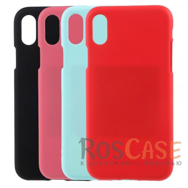 Гибкий матовый защитный чехол Mercury Soft Feeling Jelly с поверхностью Soft-Touch для Apple iPhone X (5.8)Описание:бренд -&amp;nbsp;Mercury;материал - силикон;поверхность - матовая soft touch;разработан для Apple iPhone X (5.8);предусмотрены все вырезы;не скользит в руках;на нем не видны отпечатки пальцев;гибкий, легко устанавливается;защита от ударов, царапин и потертостей.<br><br>Тип: Чехол<br>Бренд: Mercury<br>Материал: Силикон