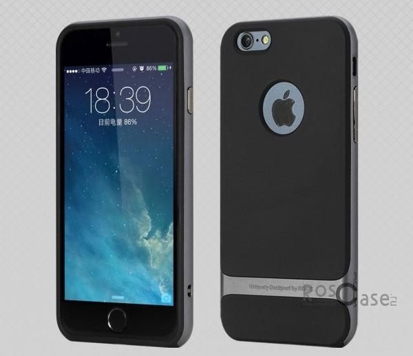 TPU+PC чехол Rock Royce Series для Apple iPhone 6/6s (4.7) (Черный / Серый)Описание:фирма-производитель  -  Rock;совместимость - Apple iPhone 6/6s (4.7);материалы  -  полиуретан, поликарбонат;тип  -  накладка.&amp;nbsp;Особенности:пластичный;имеет все необходимые вырезы;легко чистится;не увеличивает габариты;защищает от ударов и падений;износостойкий.<br><br>Тип: Чехол<br>Бренд: ROCK<br>Материал: TPU