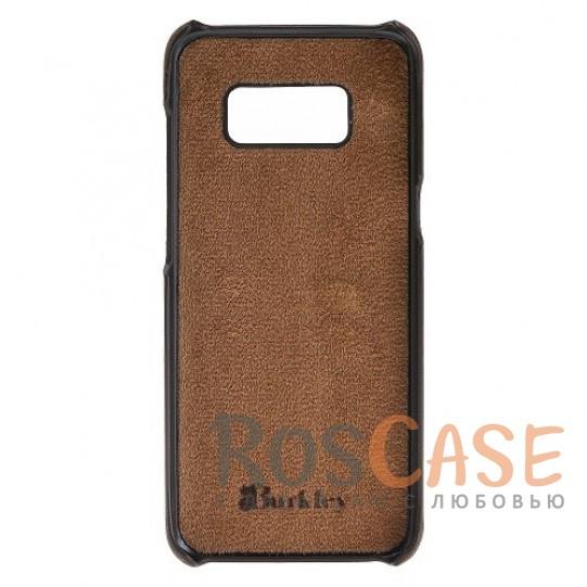 Изображение Премиальная накладка из натуральной кожи с отделениями под пластиковые карты для Samsung Galaxy S8 Plus (G955)