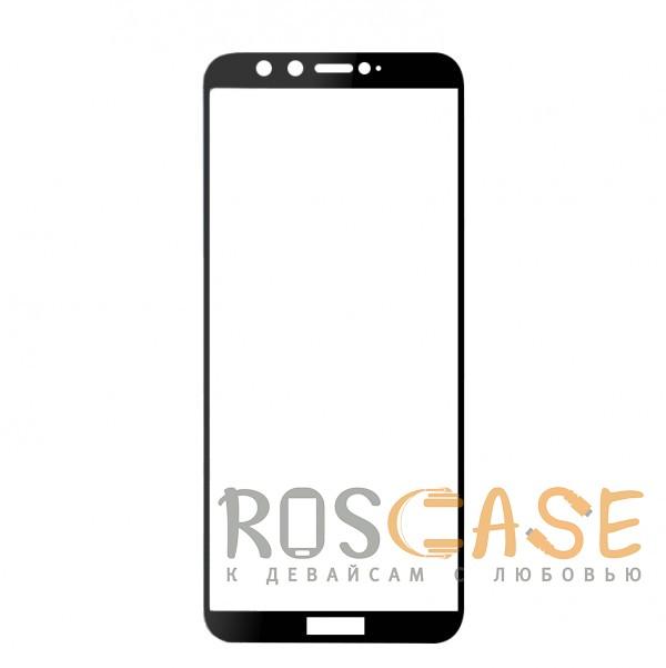 Фото Черное Artis 2.5D   Цветное защитное стекло на весь экран для Huawei Honor 9 Lite на весь экран