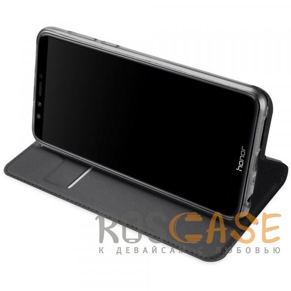 Фотография Серый Dux Ducis | Чехол-книжка для Huawei Honor 9 Lite с функцией подставки и картхолдером