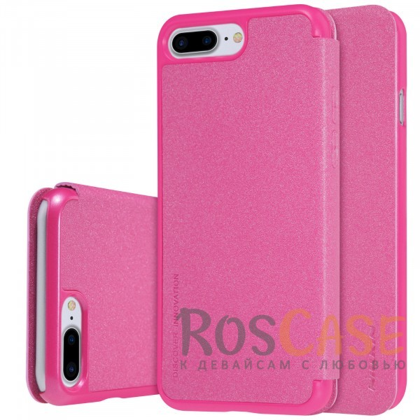 Кожаный чехол (книжка) Nillkin Sparkle Series для Apple iPhone 7 plus (5.5) (Розовый)Описание:производитель -&amp;nbsp;Nillkin;разработан для Apple iPhone 7 plus (5.5);материал - искусственная кожа, поликарбонат;тип - чехол-книжка.Особенности:блестящая поверхность;защита от царапин и ударов;тонкий дизайн;защита со всех сторон;не скользит в руках.<br><br>Тип: Чехол<br>Бренд: Nillkin<br>Материал: Искусственная кожа