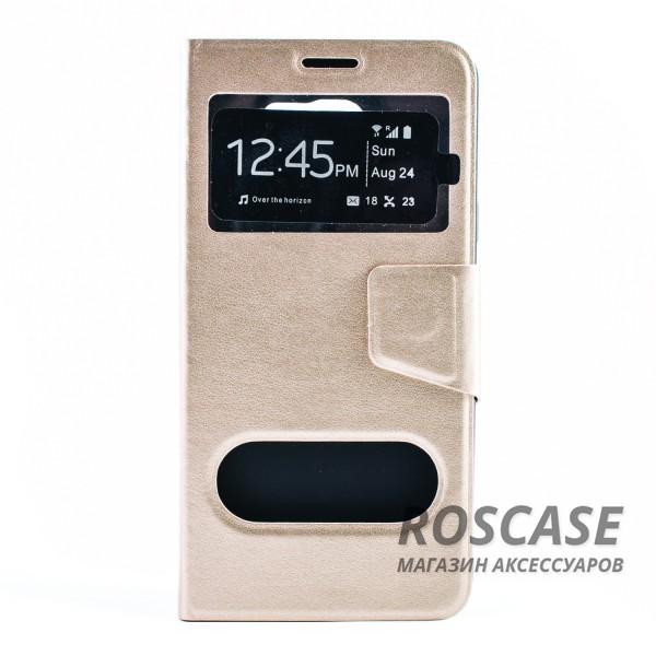 Чехол (книжка) с TPU креплением для Samsung Galaxy Note 5 (Золотой)Описание:производитель - бренд&amp;nbsp;Epik;разработан для Samsung Galaxy Note 5;материал: искусственная кожа;тип: чехол-книжка.&amp;nbsp;Особенности:имеются функциональные вырезы;магнитная застежка;защита от ударов и падений;окошки в обложке;ответ на вызов через обложку;не скользит в руках.<br><br>Тип: Чехол<br>Бренд: Epik<br>Материал: Искусственная кожа