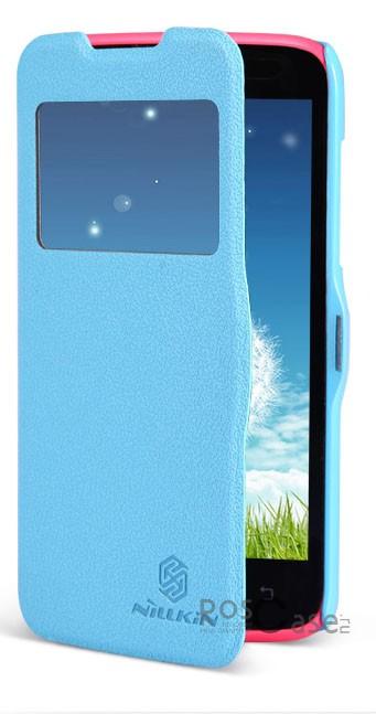 Кожаный чехол (книжка) Nillkin Fresh Series для Lenovo A516/A278 (Голубой)Описание:производитель  -  фирма Nillkin;совместимость - Lenovo A516/A278;материал  -  искусственная кожа;форма  -  чехол-книжка.&amp;nbsp;Особенности:имеет все необходимые вырезы;не скользит;тонкий дизайн не увеличивает габариты;защищает от ударов и царапин;на нем не видны &amp;laquo;пальчики&amp;raquo;.<br><br>Тип: Чехол<br>Бренд: Nillkin<br>Материал: Искусственная кожа