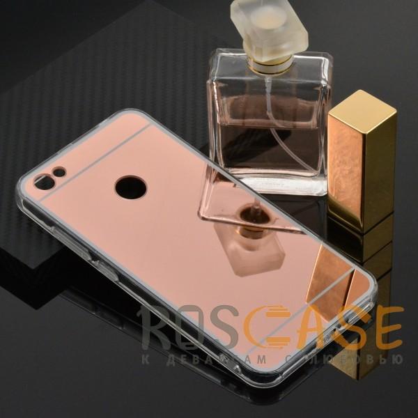 Фото Rose Gold Силиконовый чехол для Xiaomi Redmi Note 5A Prime / Redmi Y1 с зеркальной вставкой