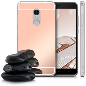 Силиконовый чехол для Xiaomi Redmi Note 4X / Note 4 (SD) с зеркальной вставкой