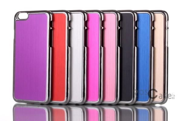 """фото хромированная накладка с алюминиевой вставкой для Apple iPhone 6/6s (4.7"""")"""