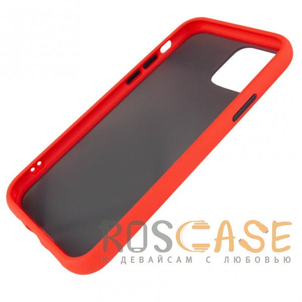 Изображение Красный Противоударный матовый полупрозрачный чехол для iPhone 12 / 12 Pro