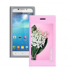 "Gresso ""Миранда Ландыш"" |  женский чехол-книжка с принтом цветка для Samsung Galaxy Grand 2 (G7102)"