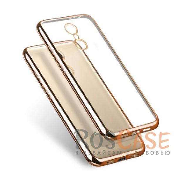 Прозрачный силиконовый чехол для Xiaomi Redmi Note 4 с глянцевой окантовкой (Золотой)Описание:подходит для Xiaomi Redmi Note 4;материал - силикон;тип - накладка.Особенности:глянцевая окантовка;прозрачный центр;гибкий;все вырезы в наличии;не скользит в руках;ультратонкий.<br><br>Тип: Чехол<br>Бренд: Epik<br>Материал: TPU