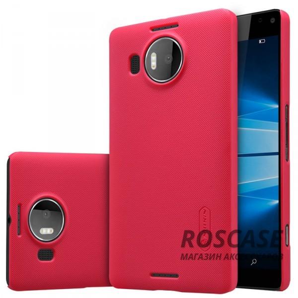 Матовый чехол для Microsoft lumia 950 XL (+ пленка) (Красный)Описание:производитель - компания&amp;nbsp;Nillkin;материал - поликарбонат;совместим с Microsoft lumia 950 XL;тип - накладка.&amp;nbsp;Особенности:матовый;прочный;тонкий дизайн;не скользит в руках;не выцветает;пленка в комплекте.<br><br>Тип: Чехол<br>Бренд: Nillkin<br>Материал: Поликарбонат