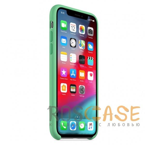 Изображение Светло-зеленый «Нежная мята» Чехол Silicone Case для iPhone X