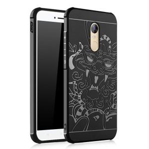 Силиконовый чехол с объемным изображением дракона и укрепленными углами для Xiaomi Redmi Note 4 (MediaTek)