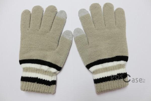 Емкостные перчатки утепленные под кашемир (Бежевый с черной полосой)Описание:бренд -&amp;nbsp;Epik;предназначены для работы с сенсорным экраном;материал - шерсть, акрил;тип - емкостные перчатки.Особенности:возможность управлять гаджетом в перчатках;утепленные перчатки;вставки из серебряной нити, которая пропускает тепло;универсальный размер;свойства не теряются даже если они намокнут.<br><br>Тип: Общие аксессуары<br>Бренд: Epik