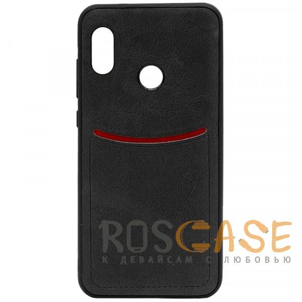 Фото Черный ILEVEL | Чехол с кожаным покрытием и с карманом-визитницей для Xiaomi Redmi Note 5 Pro / Note 5 (AI Dual Camera)