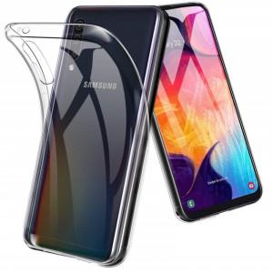 Прозрачный силиконовый чехол для Samsung Galaxy A70