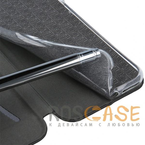 Open Color | Чехол-книжка для Samsung Galaxy J8 (2018) с функцией подставки и магнитом (Черный), , Чехлы
