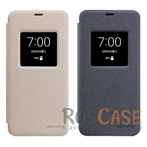 Чехол книжка из гладкой кожи с окошком для экрана и функцией сна (Sleep mode) для LG G6 / G6 Plus H870 / H870DSОписание:бренд&amp;nbsp;Nillkin;спроектирован для LG G6 / G6 Plus H870 / H870DS;материалы: поликарбонат, искусственная кожа;блестящая поверхность;не скользит в руках;функция Sleep mode;окошко в обложке;предусмотрены все необходимые вырезы;защита со всех сторон;тип: чехол-книжка.<br><br>Тип: Чехол<br>Бренд: Nillkin<br>Материал: Искусственная кожа
