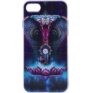 """Тонкий силиконовый чехол """"Космические животные"""" с прозрачными краями для Apple iPhone 7 (4.7"""")"""