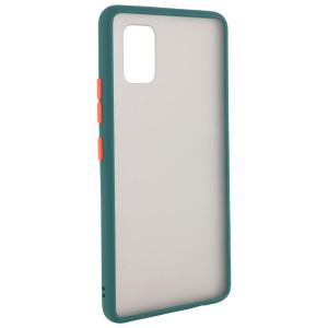 Противоударный матовый полупрозрачный чехол  для Xiaomi Mi 10 Lite