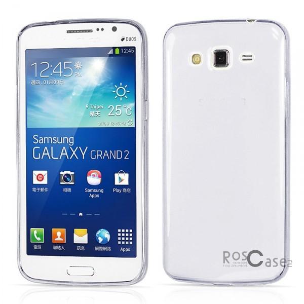 Ультратонкий силиконовый чехол Ultrathin 0,33mm для Samsung G7102 Galaxy Grand 2Описание:бренд:&amp;nbsp;Epik;совместим с Samsung G7102 Galaxy Grand 2;материал: термополиуретан;тип: накладка.&amp;nbsp;Особенности:ультратонкий дизайн - 0,33 мм;прозрачный;эластичный и гибкий;надежно фиксируется;все функциональные вырезы в наличии.<br><br>Тип: Чехол<br>Бренд: Epik<br>Материал: TPU