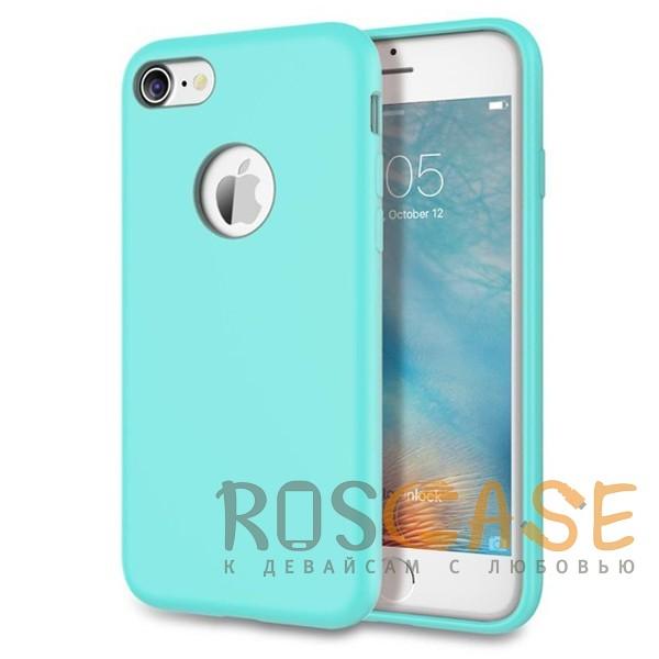 """Изображение Голубой / Light Blue Rock Silicon   Ультратонкий чехол для Apple iPhone 7 / 8 (4.7"""") из силикона"""