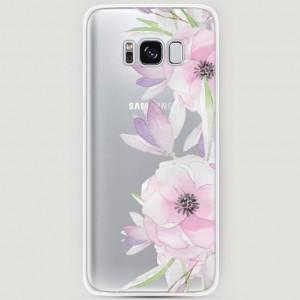 RosCase | Силиконовый чехол Нежные анемоны на Samsung G950 Galaxy S8
