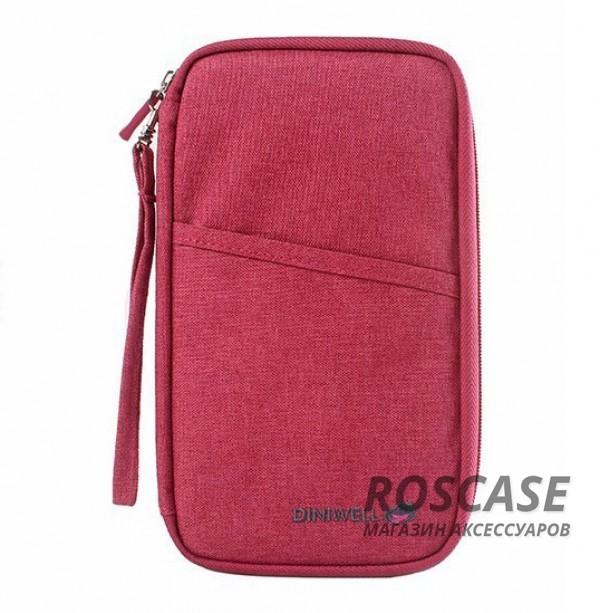Дорожная сумка-клатч Diniwell для телефона, документов и карт из влагозащитного материала (Винный)Описание:бренд  -  Diniwell;материал  -  ткань с пропиткой;для телефона, документов, карточек;тип  -  дорожная сумка-клатч.&amp;nbsp;Особенности:материал не пропускает влагу;размеры  -  25*15*2 см;застежка на молнии;множество внутренних кармашков;вместительная;компактная;ремешок в комплекте.<br><br>Тип: Общие аксессуары<br>Бренд: Epik