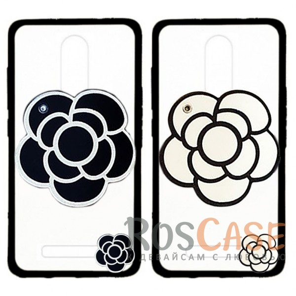 Прозрачный пластиковый чехол Beauty flower со встроенным зеркалом и длинным шнурком на шею для Xiaomi Redmi Note 3 / Redmi Note 3 Pro<br><br>Тип: Чехол<br>Бренд: Epik<br>Материал: TPU