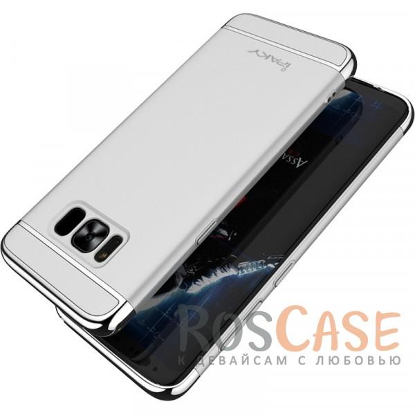 Изящный чехол iPaky (original) Joint с глянцевой вставкой цвета металлик для Samsung G955 Galaxy S8 Plus (Серебряный)Описание:совместим с Samsung G955 Galaxy S8 Plus;бренд - iPaky;материал - поликарбонат;тип - накладка;металлизированная окантовка;предусмотрены все функциональные вырезы;матовая фактура.<br><br>Тип: Чехол<br>Бренд: iPaky<br>Материал: Поликарбонат