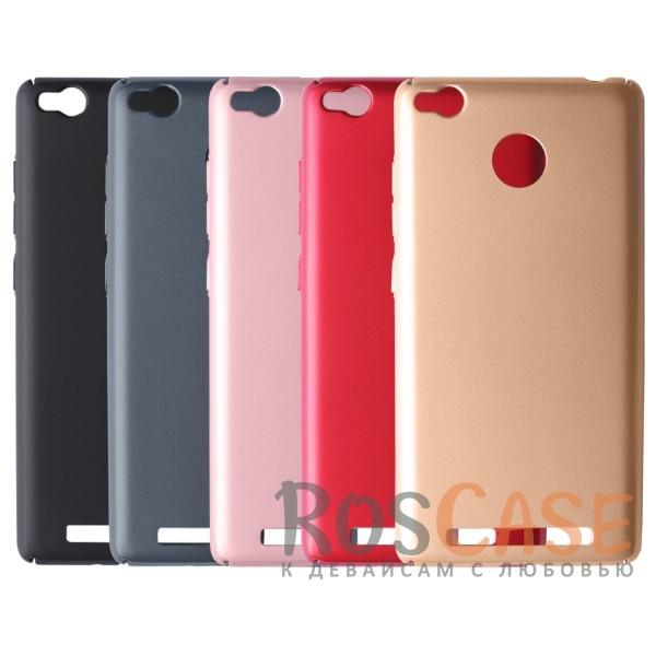 Пластиковая накладка soft-touch с защитой торцов Joyroom для Xiaomi Redmi 3 Pro / Redmi 3s<br><br>Тип: Чехол<br>Бренд: Epik<br>Материал: Пластик