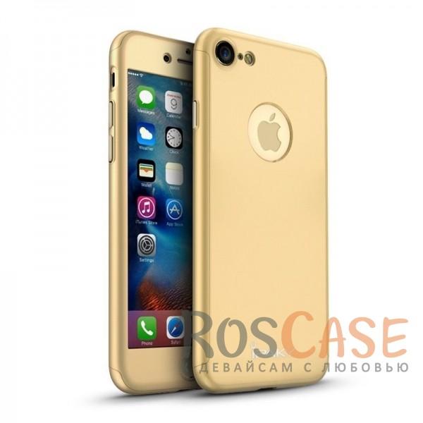 Чехол iPaky 360 градусов для Apple iPhone 7 (4.7) (+ стекло на экран) (Золотой)Описание:производитель: iPaky;совместимость: смартфон Apple iPhone7 (4.7);материалы для изготовления: поликарбонат и каленое стекло;форм-фактор: накладка.Особенности:надежная защита: чехол, бампер, стекло;высокий уровень износостойкости и прочности;ультратонкий, не увеличивает визуально объем;легко фиксируется;легко очищается.<br><br>Тип: Чехол<br>Бренд: Epik<br>Материал: Пластик