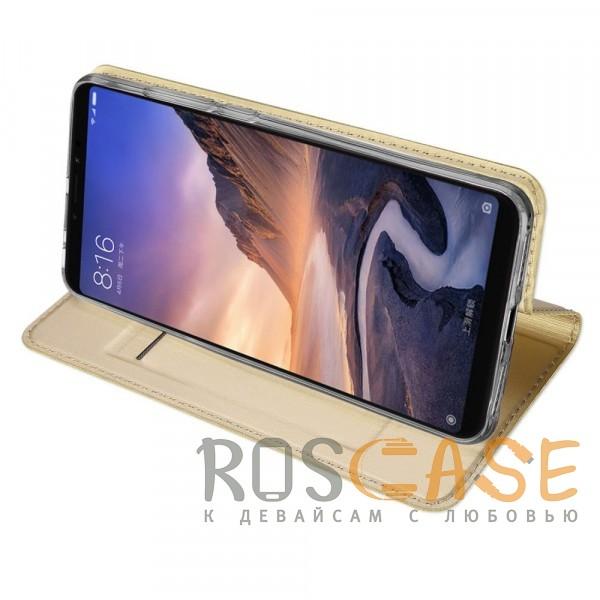Фотография Золотой Dux Ducis   Чехол-книжка для Xiaomi Mi Max 3 с функцией подставки и картхолдером