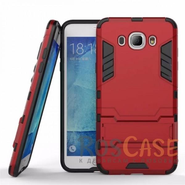Ударопрочный чехол-подставка Transformer для Samsung J710F Galaxy J7 (2016) с мощной защитой корпуса (Красный / Dante Red)Описание:подходит для Samsung J710F Galaxy J7 (2016);материалы: термополиуретан, поликарбонат;формат: накладка.&amp;nbsp;Особенности:функциональные вырезы;функция подставки;двойная степень защиты;защита от механических повреждений;не скользит в руках.<br><br>Тип: Чехол<br>Бренд: Epik<br>Материал: TPU
