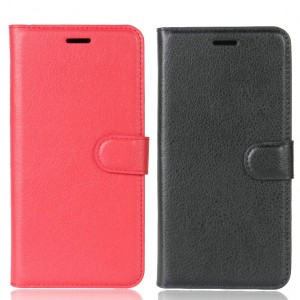 Гладкий кожаный чехол-бумажник на магнитной застежке с функцией подставки и внутренними карманами для OnePlus 5T