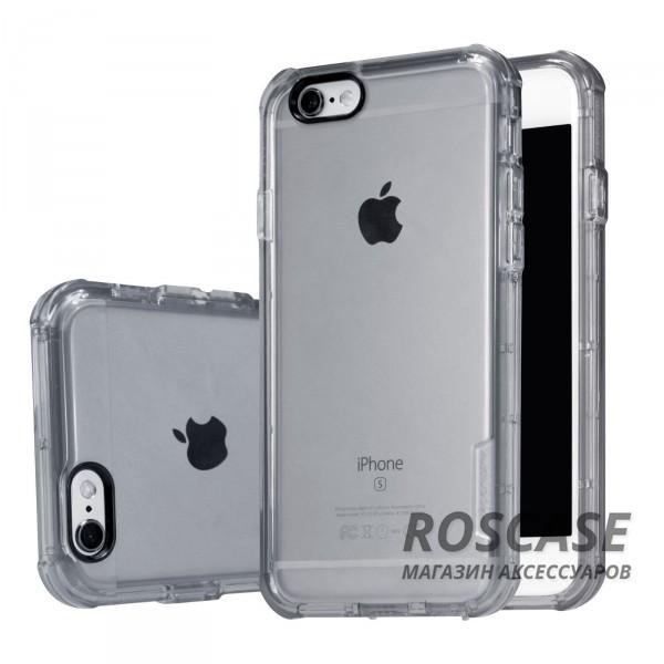 TPU чехол Nillkin Crashproof Case Series для Apple iPhone 6/6s (4.7) (Серый (прозрачный))Описание:компания  - &amp;nbsp;Nillkin;совместим с Apple iPhone 6/6s (4.7);материал  -  термополиуретан;формат  -  накладка.&amp;nbsp;Особенности:заглушки для функциональных отверстий;выступы над экраном и камерой;ударопрочный;защита от ударов, пыли и царапин;прозрачный.<br><br>Тип: Чехол<br>Бренд: Nillkin<br>Материал: TPU