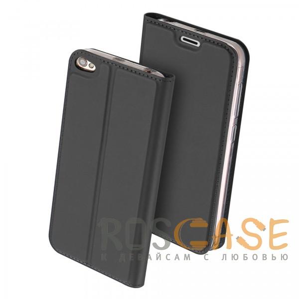 Фотография Серый Dux Ducis | Чехол-книжка для Xiaomi Redmi Note 5A / Redmi Y1 Lite с подставкой и карманом для визиток