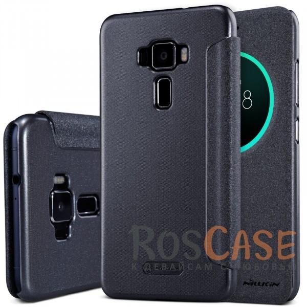 Защитный чехол-книжка с интерактивным окошком для входящих вызовов и функцией сна (Sleep mode) для Asus Zenfone 3 (ZE520KL) (Черный)Описание:изготовлен фирмой&amp;nbsp;Nillkin;для Asus Zenfone 3 (ZE520KL);материалы: поликарбонат, синтетическая кожа;вид чехла: книжка.Особенности:полное соответствие гаджету;окошко в обложке;функция Sleep mode;высокая степень защиты;особая внутренняя отделка;наличие дополнительных функций.<br><br>Тип: Чехол<br>Бренд: Nillkin<br>Материал: Искусственная кожа