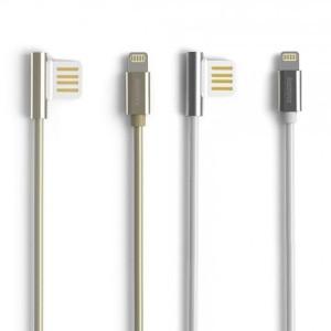 Remax Emperor | Дата кабель USB to Lightning с угловым штекером USB (100 см) для Meizu U20