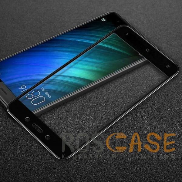 Фото Черное 5D защитное стекло для Xiaomi Redmi Note 4X / Note 4 (Snapdragon) на весь экран