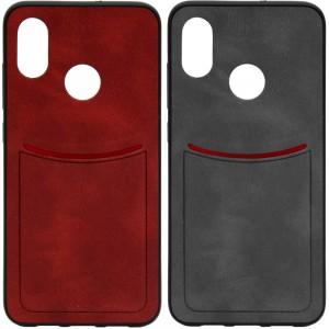 ILEVEL | Чехол с кожаным покрытием и с карманом-визитницей для Xiaomi Mi 8