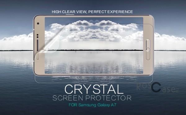 Защитная пленка Nillkin Crystal для Samsung A700H / A700F Galaxy A7 (Анти-отпечатки)Описание:компания-производитель:&amp;nbsp;Nillkin;разработана специально для Samsung A700H / A700F Galaxy A7;материал: полимер;тип: защитная пленка.&amp;nbsp;Особенности:прозрачная;олеофобное покрытие (анти-отпечатки);не влияет на чувствительность сенсора;придает изображению четкость и яркость;не желтеет.<br><br>Тип: Защитная пленка<br>Бренд: Nillkin