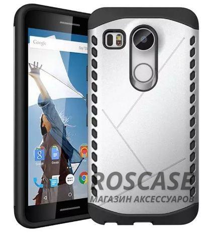 Противоударный защитный чехол Armor для LG Google Nexus 5x с усиленным прорезиненным бампером (Серебряный)Описание:совместимость: LG Google Nexus 5x;форм-фактор: накладка;материал: термополиуретан, поликарбонат.Преимущества:устойчив к повреждениям;не скользит в руках;эргономичный;легко очищается;защита боковых панелей;амортизация;надежная фиксация;стильный дизайн.<br><br>Тип: Чехол<br>Бренд: Epik<br>Материал: TPU